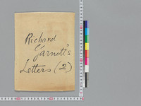 Two letters by Richard Garnett to Rinkichi Tsuchii. Letter 1