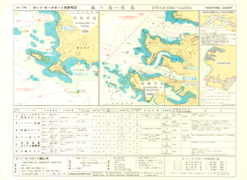 Yachting Charts - Coastal Sailing Series H-175 Zyo-ga-Sima - Sazima 1:30,000 - Back