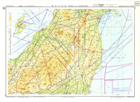 Aeronautical Chart No. 8293, Sendai and Approaches, 1:500,000