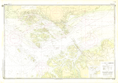 Chart No. 750. Singapore Strait, Central Portion. 1:50,000 (Lat. 1°15')