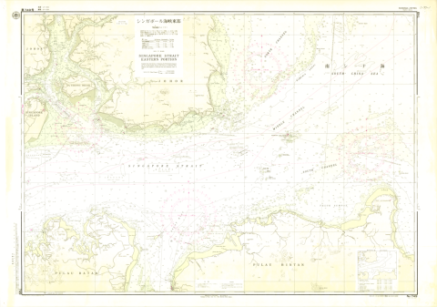 Chart No. 749. Singapore Strait, Eastern Portion. 1:75,000 (Lat. 1°15')