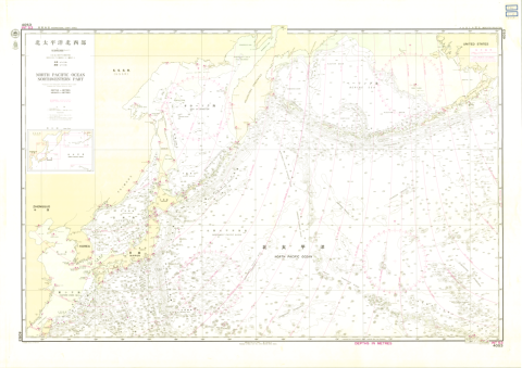 Chart No. 4054 (INT 53) North Pacific Ocean - Northwestern Portion 1:10,000,000 (Lat. 0°)