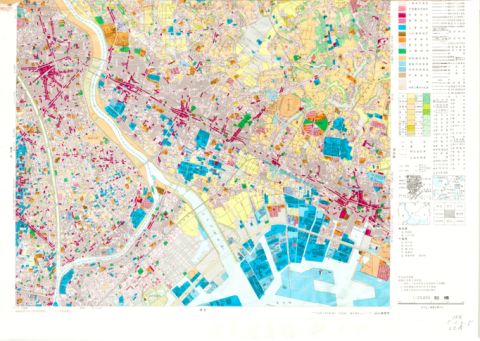 1:25,000 scale Land Use Map (Funabashi)