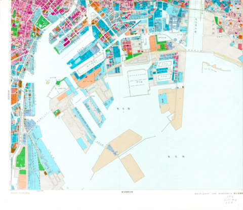 1:25,000 scale Land Use Map (Southern Part of Tokyo)
