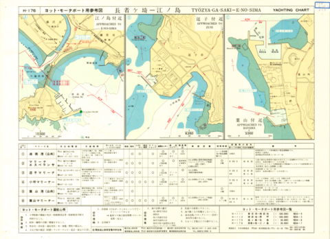 Yachting Charts - Coastal Sailing Series H-176 Tyozya-ga-Saki - E-no-Sima 1:30,000 - Back